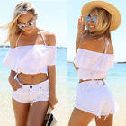 New Fashion Womens Ladies Summer Sexy T Shirt Off Shoulder Strap Crop Top Blouse