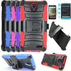 Phone Case For ZTE Avid Plus 4g LTE Holster Cover Stand Tempered Glass Screen