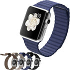 Unisex Leather Loop Smart Watch Band Strap Magnetic Buckle For Apple Watch Gifts