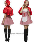 4-14 Fever Sexy Red Riding Hood Costume Ladies Fairy Tale Fancy Dress Outfit