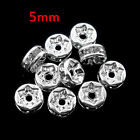 Top Quality Silver Plated Flat Side Spacer Beads Jewelry Accessories 5x2.5mm