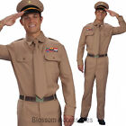 CL825 Mens WW2 Army General Soldier Military Hero War Fancy Dress Costume Outfit
