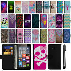 For Microsoft Nokia Lumia 640 Magnetic Flip Wallet POUCH Case Phone Cover + Pen