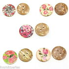 100 Accessories Boutons Coquille de Coco l Filigrane varié Image 2 trous 15mm