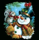 Snowman Shirt, Frosty, Winter Scene, Christmas Blouse, Holiday Clothing, Sm - 5X