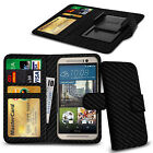 Clip On PU Leather Flip Wallet Book Case Cover For HTC Windows Phone 8X