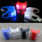 2pcs Cycling Bike Bicycle Silicone 2LED Frog Front Light Safety Warning Lamp