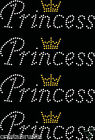 4x Princess Small Crown Iron On Rhinestone Transfer Crystal t-shirt applique