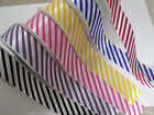 Candy Stripe Print Ribbon - Prize Rosette Equestrian - 25 & 38mm var lengths