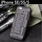 TPU Case Cover For Apple iPhone  5 5S Heavy Duty Tough  Shockproof Kickstand