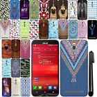 "For Asus ZenFone 2 5.5"" ZE551ML ZE550ML PATTERN HARD Back Case Phone Cover + Pen"