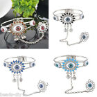 BD Women Fashion Silver Plated Evil Eye Ring Bracelet Personality Design Gift