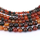 1Bunch Natural Dreamy Color Striped Agate Round Gemstone Loose Spacer Beads