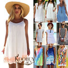 Sexy Womens Summer Casual Sleeveless Loose Tops Evening Party Short Mini Dress
