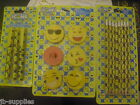 PEN PENCILS ERASERS EMOJI ICONS BACK TO SCHOOL PARTY BAGS LOOTBAGS SMILEY FACE