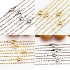 Lots 2/10Pcs Gold/Silver/White Jewelry Making Necklace Chain Round Ring Clasp