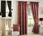 Luxury Jacquard Curtains Heavy Weight Fully Lined Pencil Pleat Damask Curtain