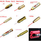 CAL .38/.45/9mm/7.62X39/12GA Red Laser Bore Sight Brass Cartridge Boresighter