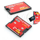 1/2 Port Micro SD TF SDHC To Type I Compact Flash Card CF Reader Adapter