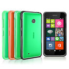 FUSION BUMPER CLEAR BACK GEL CASE FOR NOKIA LUMIA 530