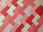 COTTON FABRIC PATCHWORK SQUARES PIECES CHARM PACK ~ CORAL PINK
