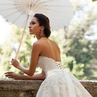 White Paper Parasol Umbrella Bridal Accessories Wedding Party Decoration 15/20cm