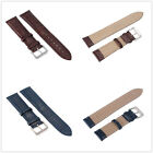 Brown Blue Genuine Leather Watchband Watch Strap Band Vintage Wristwatch New