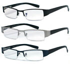 Man Woman Metal Frame Spring Temple Reading Vision Glasses - RE03 Assorted Color