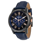 Men Best Deals - Fossil Grant 2 Chronograph Leather Mens Watch