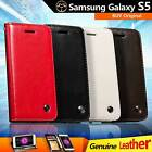 Genuine Real Leather Flip Wallet Case Cover For Samsung Galaxy S5 i9600