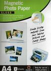 3 x Magnetic Photo Paper 2 Sheets Create great fridge magnets photos