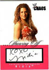 WWE Nidia 2004 Fleer Chaos Showing Off Authentic Autographed Card