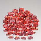 4x3mm. Lot 1,2,5,10pcs Perfect Oval Cut Calibrated Natural Orange Red SAPPHIRE