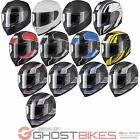 Black Titan ACU Gold Approved Motorcycle Helmet Motorbike Sports Bike Pinlock