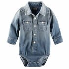 Oshkosh B'gosh 24 Months 2-Pocket Denim Long Sleeve Bodysuit Baby Boy Clothes