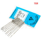 10Pcs Butterfly Home Sewing Machine Threading Needles Size 9 11 12 14 16 18 NEW