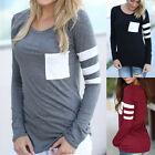 Sexy Women Casual Pullover Fashion Long Sleeve Loose Tops T-Shirt Blouse 3 color