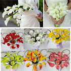 1pc Color Calla Lily Bridal Bouquet Wedding Party Supply Latex Real Touch Flower