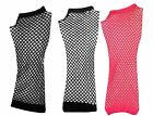 GOTHIC WITCHY FISHNET LONG GLOVES BLACK OR NEON PINK