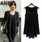 Oversized Women Casual Tank Loose Sleeveless Ladies Chiffon Cami Vest Top M-XL