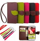 For LG G3 MINI G3S D722 D725 PU Leather Wallet Flip Soft TPU Cover Case Business