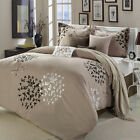 Cheila Taupe Comforter Bed In A Bag Set 8 Piece