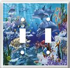 DOLPHINS SEA TURTLE OCEAN LIFE LIGHT SWITCH COVER PLATE HOME DECOR