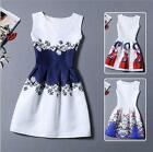 Women Vintage Summer Sleeveless Bodycon Casual Party Evening Cocktail Mini Dress