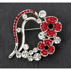 Equilibrium Silver Plated Red Poppy Earrings Necklace Bracelet Brooch Jewellery  New with tags