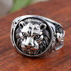 LION Head White Gold Plated on Copper Men's Wedding Giraffes Eagle Lion Ring M22