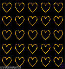 30 Rhinestone Hearts iron-on diamante transfer crystal stone bling motif