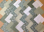 COTTON FABRIC PATCHWORK SQUARES PIECES CHARM PACK 4, 5 INCH ~ GREEN 2