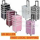 4 in 1 Rolling Make up Cases Cosmetic Organizer Storage Box Mobiles Professional