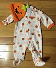 NWT Carter's Just One You White w/Pumpkins One Piece w/Hat ~Infant Sizes